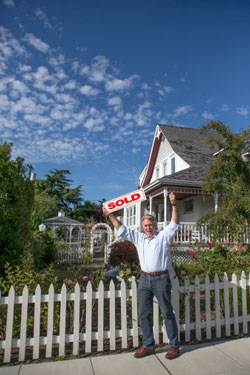 senior man sold house
