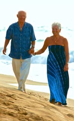 seniors on a beach