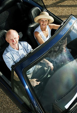 seniors driving scenic routes