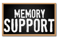 Marjorie P Lee provides memory support