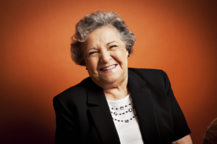 Claire Peters enjoys the community of senior living at Marjorie P. Lee