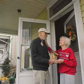 Deupree House Meals on Wheels volunteers get out in the community and give back.