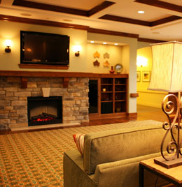 You won't find a feature like a hearth room at the average nursing home