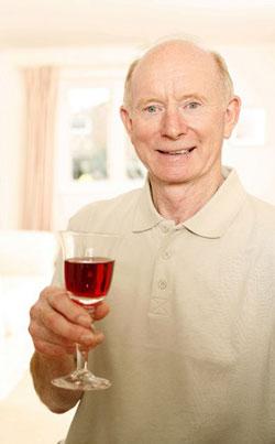 Senior Drinking