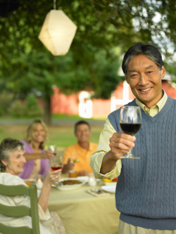 Enjoy Life after Retirement with Good Food, Friends, and Wine