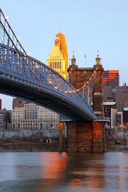 queen city cinicinnati roebling bridge