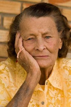 forgetful senior woman