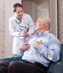 senior patient receiving statin prescription