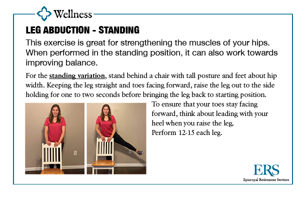 Home Exercise Series1_leg ab standing
