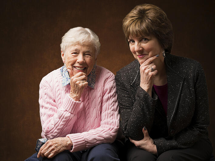 Meet Gini Tarr, part of the Deupree House Team With resident Pat.