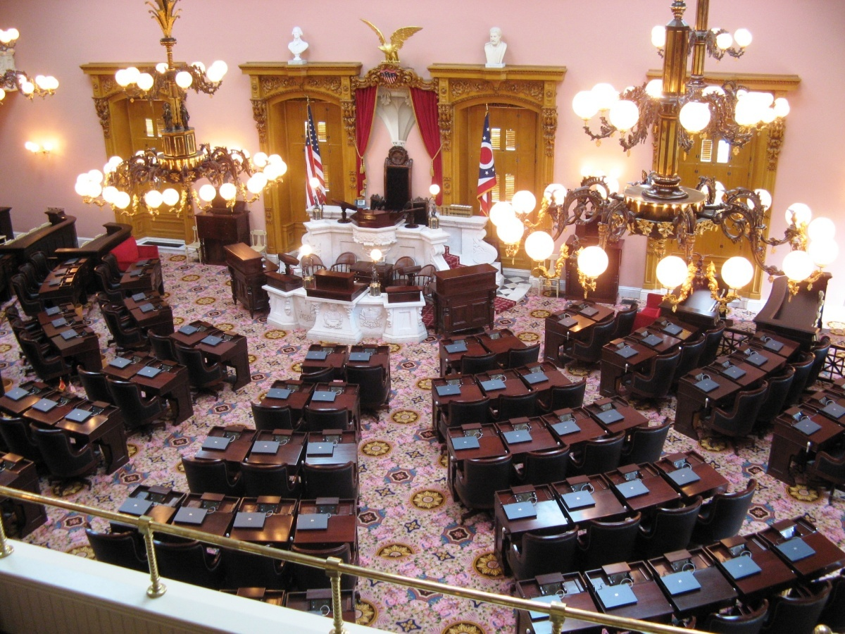 the house of representatives in the ohio statehouse