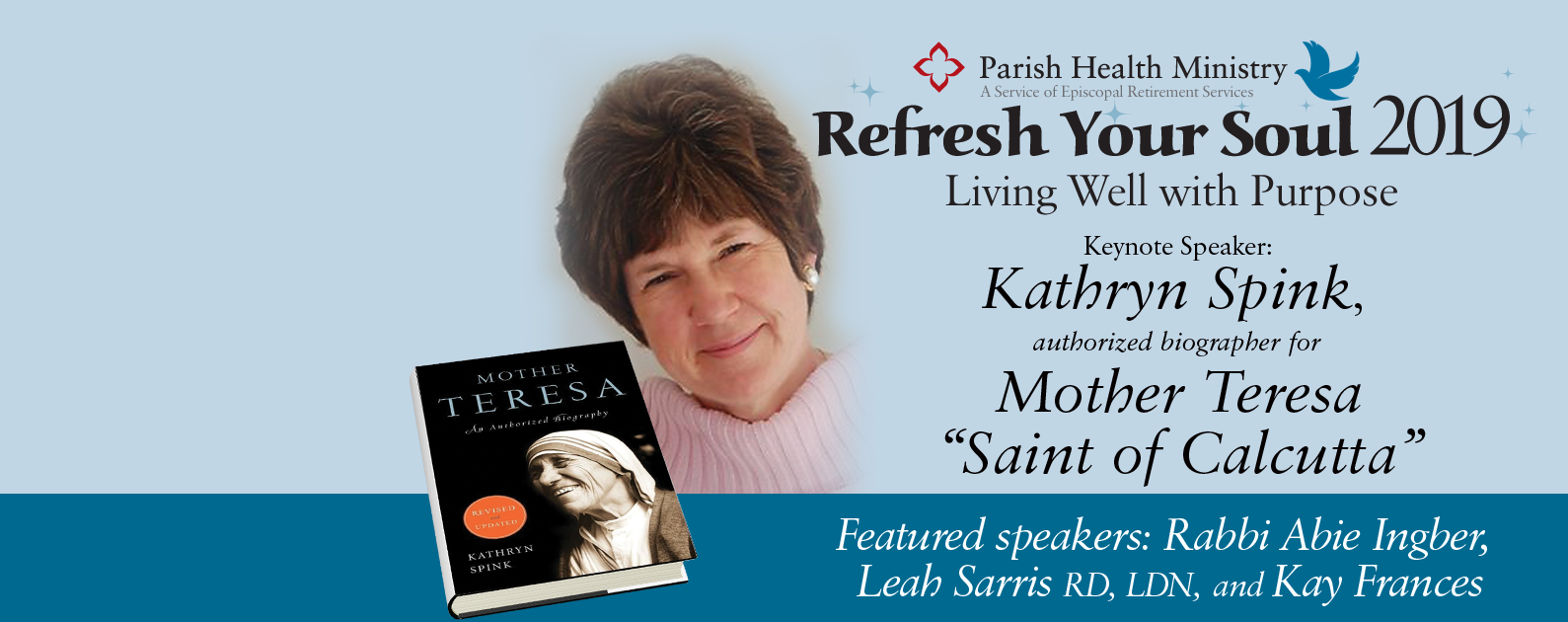 Save the Date for Refresh Your Soul 2019: Living Well with Purpose