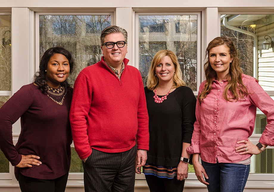 Daneika Farmer, Emerson Stambaugh, Tracie Martella, and Stephanie Biros lead ERS training and coaching for A Positive Approach to Care.