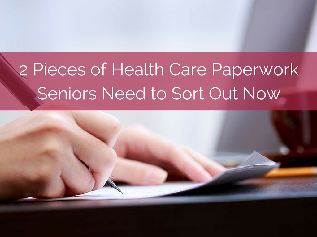 Senior Health Care Paperwork